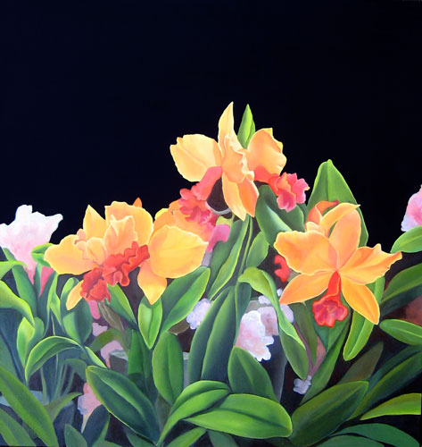 Orchids - oil on canvas